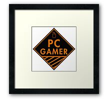 Pc Gaming (Orange) Framed Print