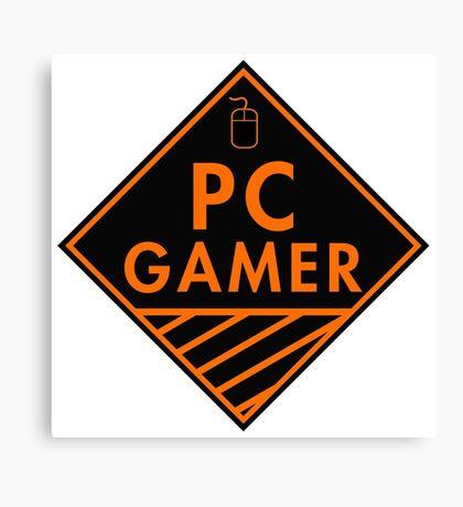 Pc Gaming (Orange) Canvas Print