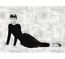 Audrey Hepburn by Mary Bassett Photographic Print