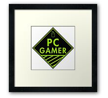 Pc Gaming (Green) Framed Print