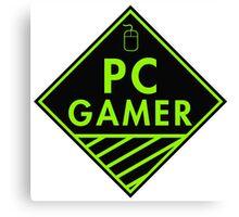 Pc Gaming (Green) Canvas Print