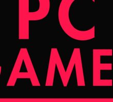 Pc Gaming (Red-Pink) Sticker