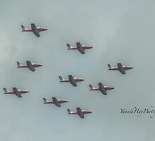 Snowbirds - Canada Day  - Canada's Military Aerobatics or Air Show Flight Demonstration Team by Yannik Hay