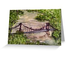 Bridge of Auvillar Greeting Card