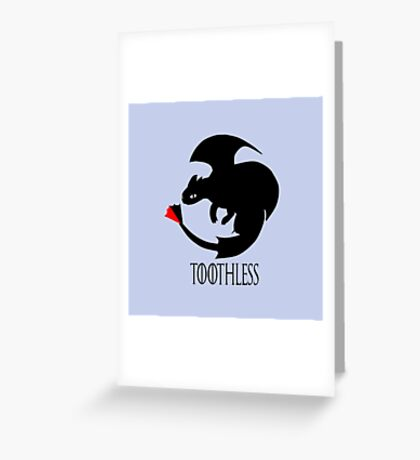 Toothless / Game of Thrones Greeting Card
