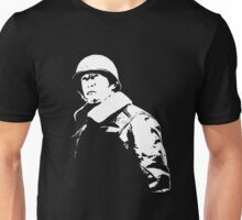General George Patton - Black and White Unisex T-Shirt