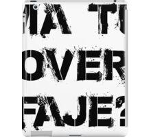 over faje iPad Case/Skin