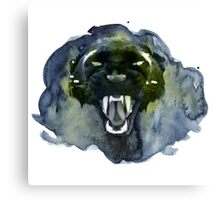 Watercolor Panther Canvas Print