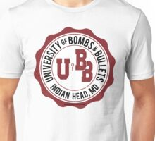 University of Bombs and Bullets Indian Head Unisex T-Shirt