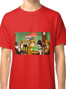 Dogs Playing Poker Cards  Classic T-Shirt
