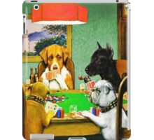 Dogs Playing Poker Cards  iPad Case/Skin