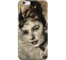 Audrey Hepburn by Mary Bassett iPhone Case/Skin