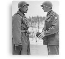 Generals Ridgway and Gavin - Battle of the Bulge Canvas Print