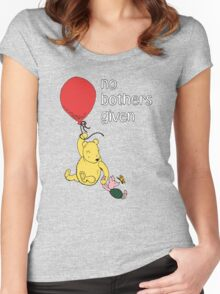 Winnie the Pooh + Piglet - No Bothers Given Women's Fitted Scoop T-Shirt