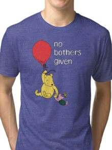 Winnie the Pooh + Piglet - No Bothers Given Tri-blend T-Shirt