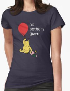Winnie the Pooh + Piglet - No Bothers Given Womens Fitted T-Shirt
