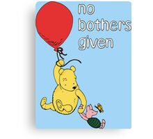 Winnie the Pooh + Piglet - No Bothers Given Canvas Print