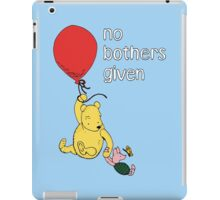 Winnie the Pooh + Piglet - No Bothers Given iPad Case/Skin