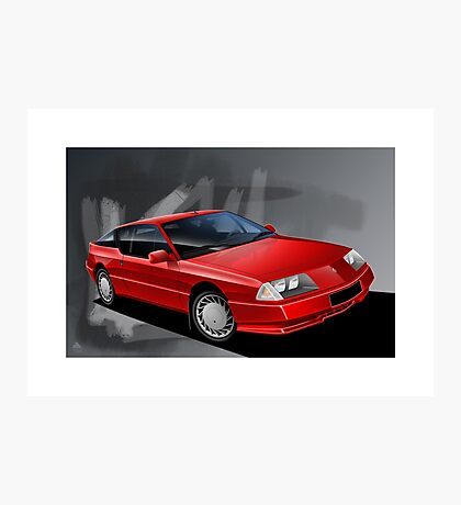 Poster artwork - Renault Alpine GTA Photographic Print