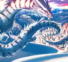 dragon neige Sticker