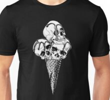 Ice Cream cone with a Skulls Unisex T-Shirt
