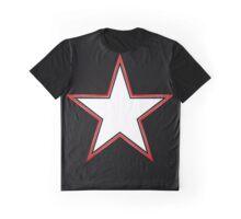 Bordered Star Graphic T-Shirt