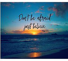Inspirational Faith Verse Quote Photographic Print
