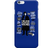 quotes of detective iPhone Case/Skin
