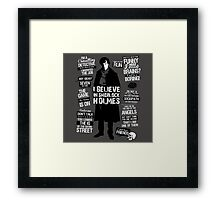 quotes of detective Framed Print