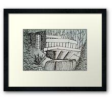 Frank Lloyd Wright: Falling Waters Framed Print
