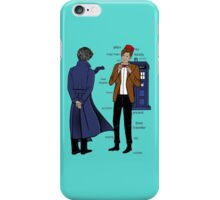 doctor and deteective iPhone Case/Skin