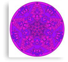 Pink Star Mandala Canvas Print