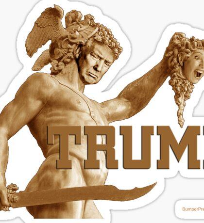 Perseus Slays Medusa (Trump-Hillary) Sticker