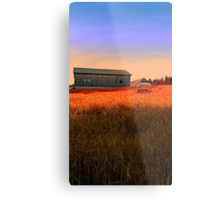 Burning fields of summer | landscape photography Metal Print