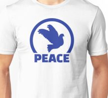 Blue peace dove Unisex T-Shirt