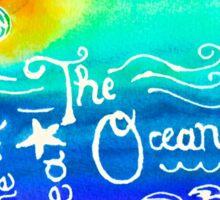 Sun, Sea, Waves, and Ocean  Sticker