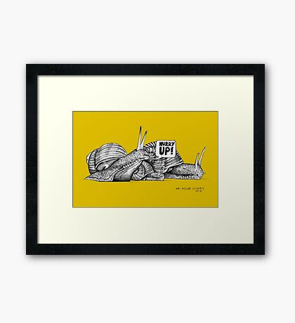 Alford Snails - Hurry Up Framed Print