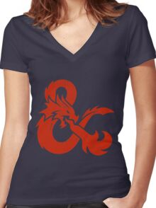 Dungeons & Dragons Women's Fitted V-Neck T-Shirt