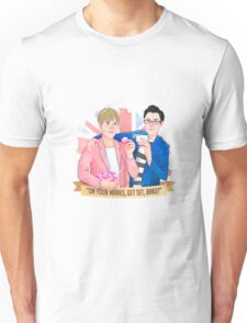 "Mel & Sue. ""On your mark, Get Set, BAKE!"" 2016 Unisex T-Shirt"