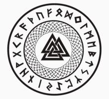 Valknut - Wotans Knot - Odin Rune One Piece - Short Sleeve