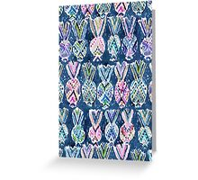 NAVY TRIBAL PINEAPPLES Greeting Card