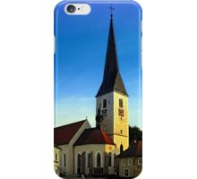 The village church of Zwettl a.d. Rodl | architectural photography iPhone Case/Skin