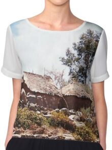 Thatched Homestead Chiffon Top