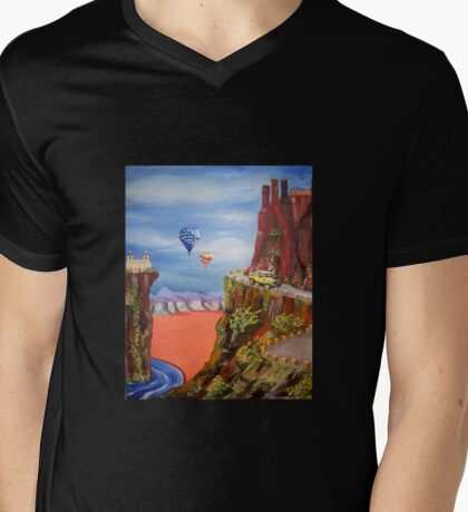 New Mexico Mountain Drive Mens V-Neck T-Shirt