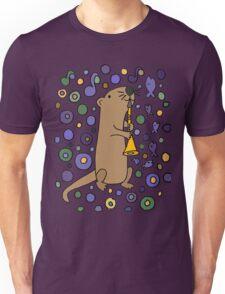 Funky Cool Sea Otter Playing Clarinet Art Unisex T-Shirt