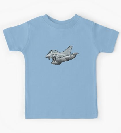 Cartoon Fighter Plane Kids Tee