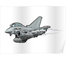 Cartoon Fighter Plane Poster