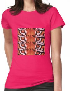 Eye of the tiger BIG CAT Womens Fitted T-Shirt