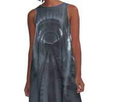 Ghosting Trails A-Line Dress