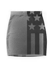 Grunge Stars and Stripes Mini Skirt
